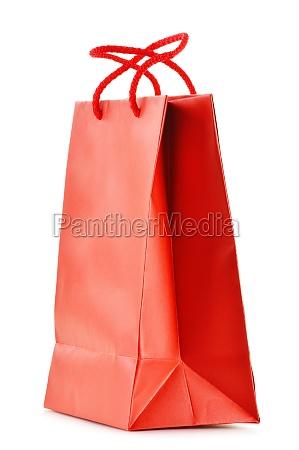 papier einkaufstasche isoliert auf weissem hintergrund