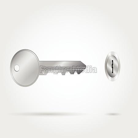silver key illustration