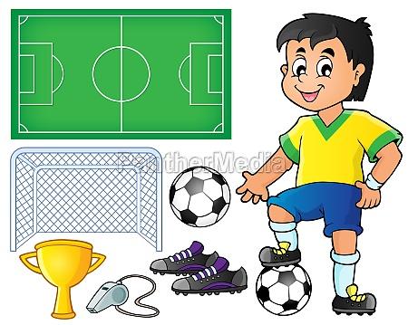 sammlung mit fussballthema 1