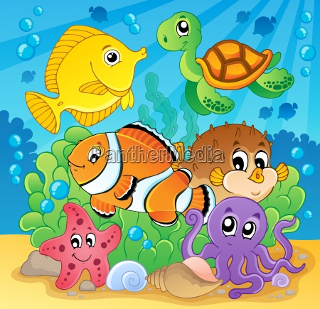 coral fish theme image 2