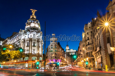 gran via in madrid spanien europa
