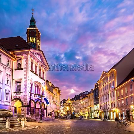 ljubljanas city center slovenia europe