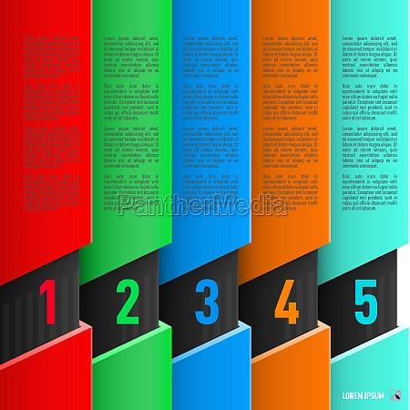 papier stil infografiken