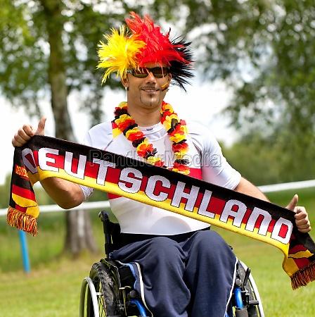 fussballfan mit handicap