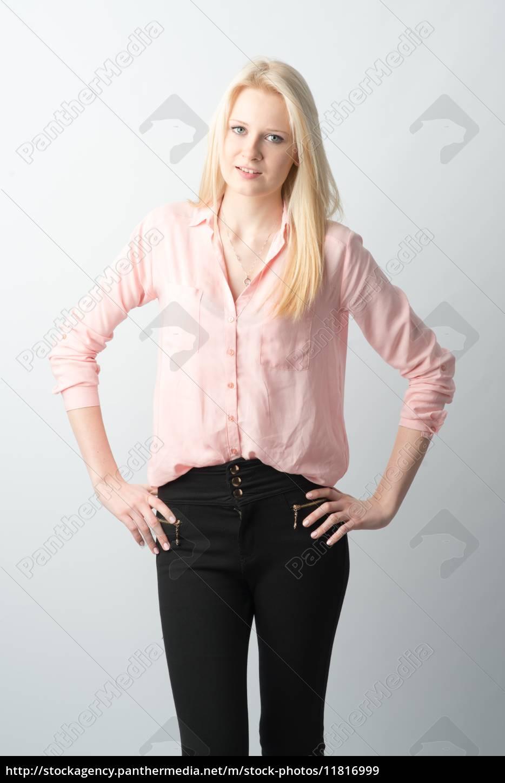blondes, mädchen, mit, langen, haaren - 11816999