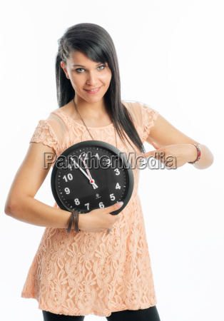 young girl mt clock