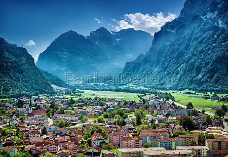 beautiful mountainous village