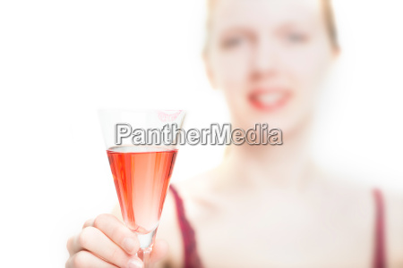 hold sparkling wine glass offer cheers