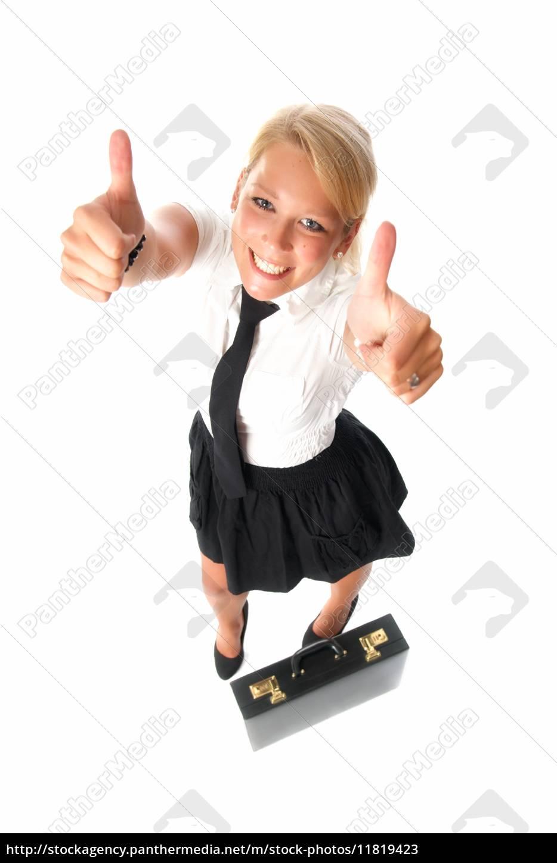 erfolgreiche, geschäftsfrau, mit, aktenkoffer - 11819423