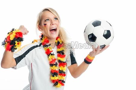 woman germany flag football fan germany