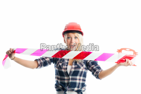 woman with streamer
