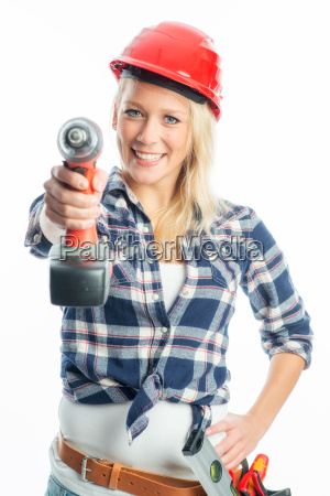 woman education drilling machine trainee apprenticeship