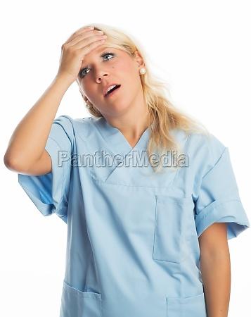 annoyed nurse