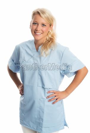 selbstbewusste krankenschwester