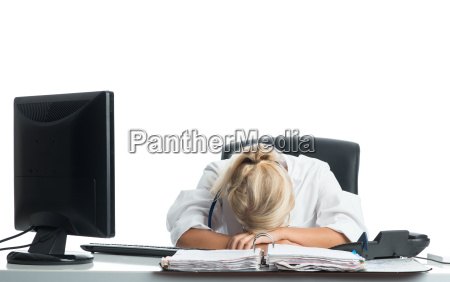 tired at desk