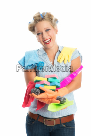 handful of cleaning supplies