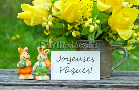 easter card text lettering french easter