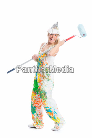 female painter and painter