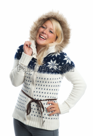 woman fashion fashionable wintertide blond