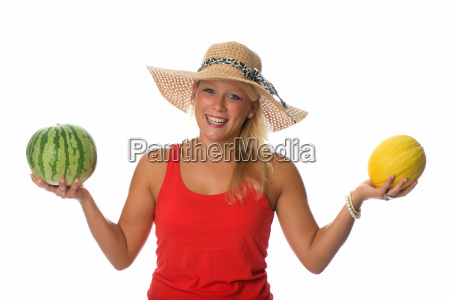 woman with melons