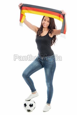 female soccer fan