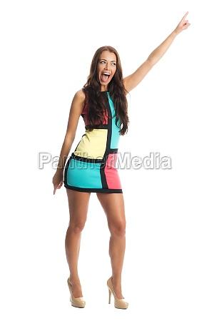 woman in mini dress
