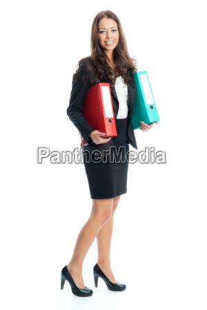 businesswoman wearing aktenordner