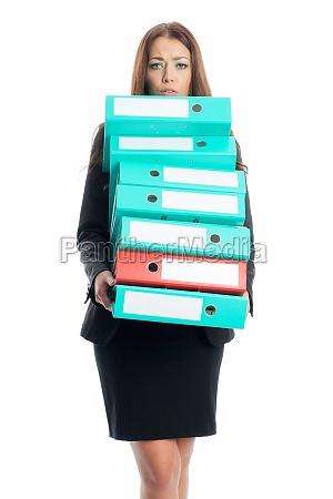 businesswoman wearing aktenordner