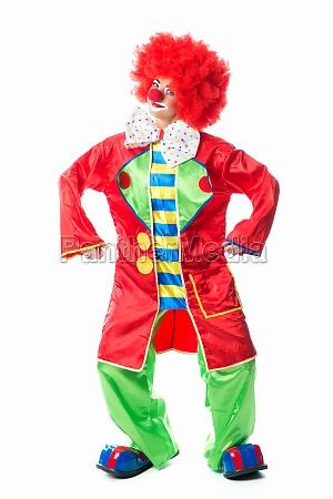 grinning clown