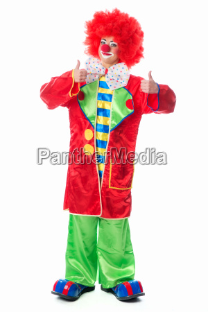 clown showing thumbs up