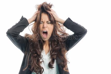 tearing hair