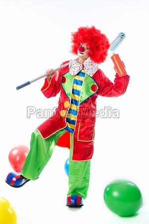 clown as a painter