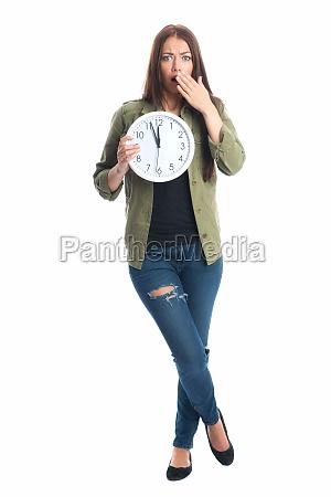 woman deadline respite time businesswoman career