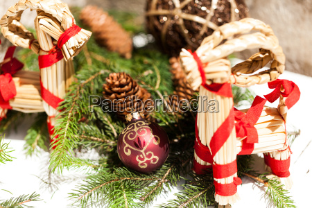 red bauble tree decoration for christmas