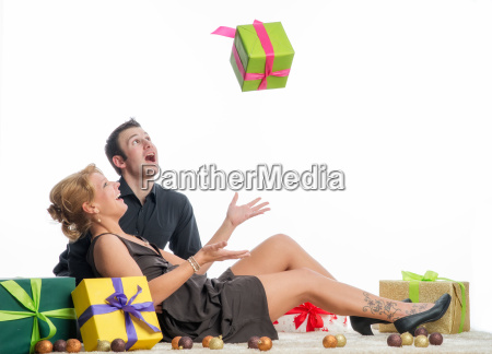 couple in love at christmas