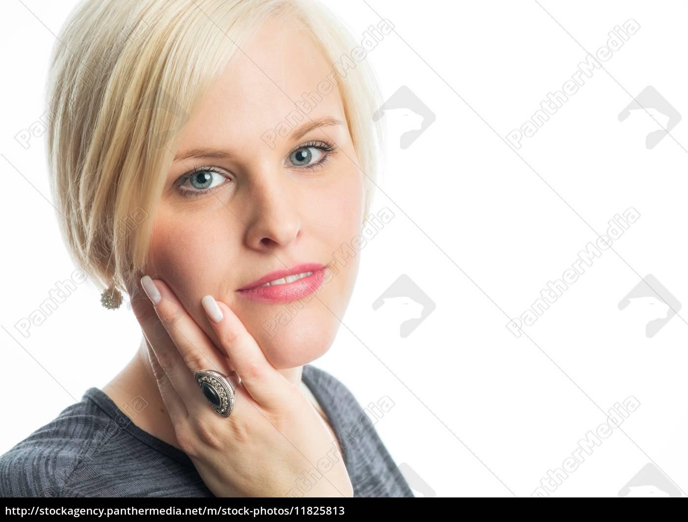 sinnliches, blondes, mädchen, - 11825813
