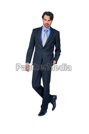 self declaimed young businessman with suit
