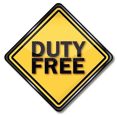 schild duty free