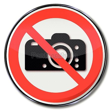 verbotsschild fotografieren verboten