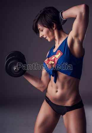 beautiful fit strong woman