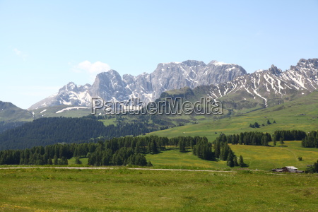 dolomites south tyrol mountain scenery countryside