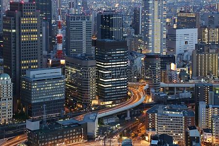 big city lights osaka japan