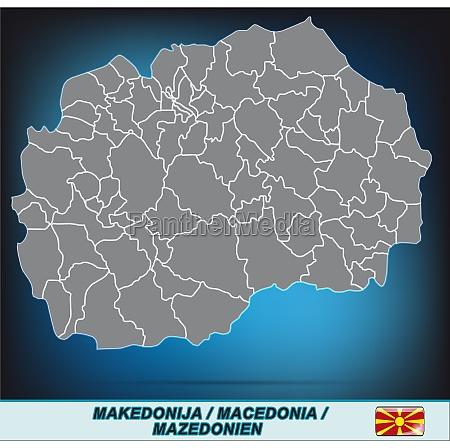 karte von mazedonien