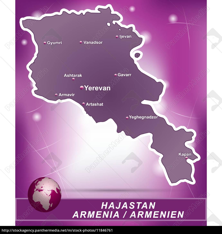 Armenien Karte.Lizenzfreie Vektorgrafik 11846761 Karte Von Armenien