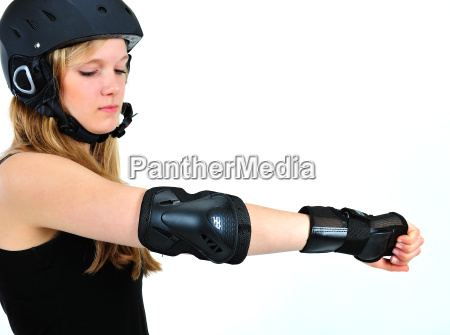 girl with helmet and protectors