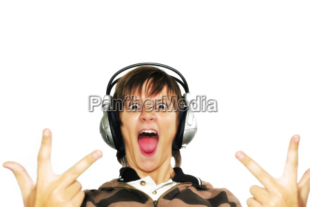 boy with headphones