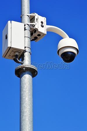hi tech dome type camera over