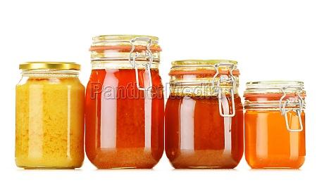 zusammensetzung mit glas honig isoliert auf