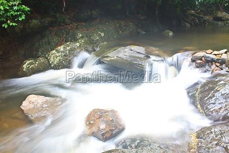 naturwasserfall im tiefen wald