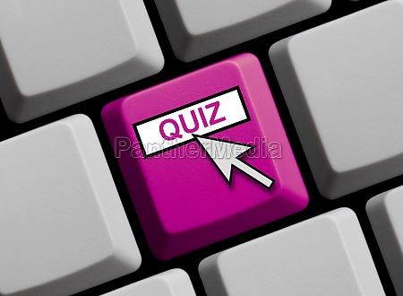 tastatur violett quiz